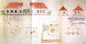 A. Vaitkevičiaus gyvenamojo namo projektas Kulautuvoje. LCVA, f. 1622, ap. 4, b. 567